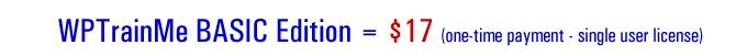 WPTrainMe BASIC Edition Pricing