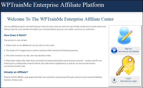WPTrainMe Enterprise Login