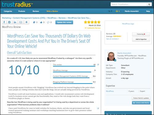 WordPress Review On TrustRadius.com