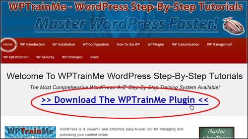 WPTrainMe FREE Plugin Edition