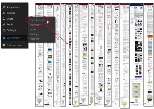 WPTrainMe.com - WordPress Step-By-Step Tutorials Plugin