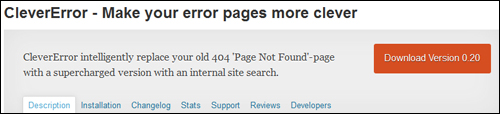 WordPress Plugin - Clever Error