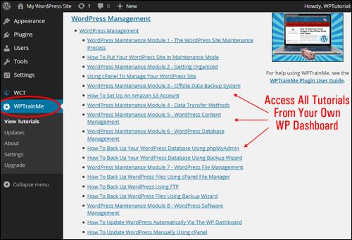 WordPress Management Tutorials - WPTrainMe.com