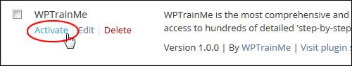 WPTrainMe Plugin