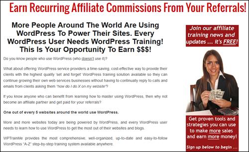 WPTrainMe.com - Affiliate Program