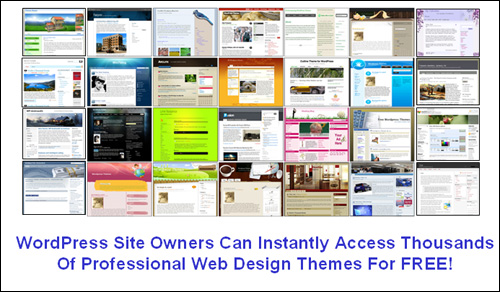 WordPress site owners have instant access to thousands of professional web design themes for free!