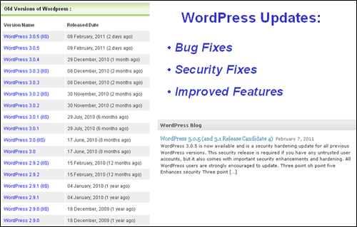 WordPress updates its software on a regular basis