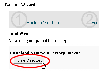How To Back Up WordPress Files Using Backup Wizard