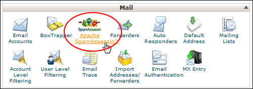 cPanel - Spam Assassin