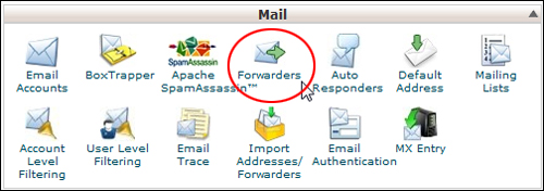 cPanel - Forwarders