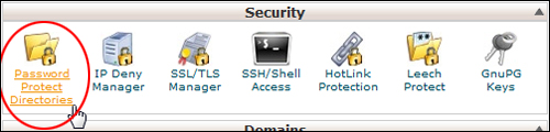 cPanel - Password Protect Directories