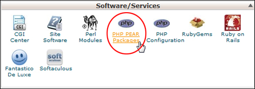 cPanel - PHP PEAR Packages