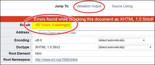 W3C Markup Validator
