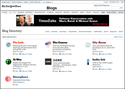 NY Times Blogs
