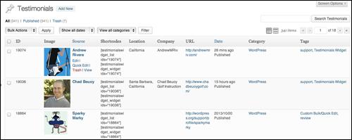 Testimonials Widget - WordPress Plugin