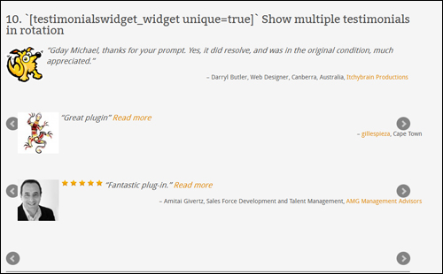 Testimonials Widget - WordPress Plugin