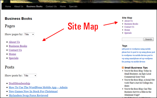 how to add an html site map to wordpress wpcompendium org