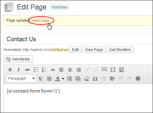How To Add A Contact Form To WordPress - WPCompendium.org
