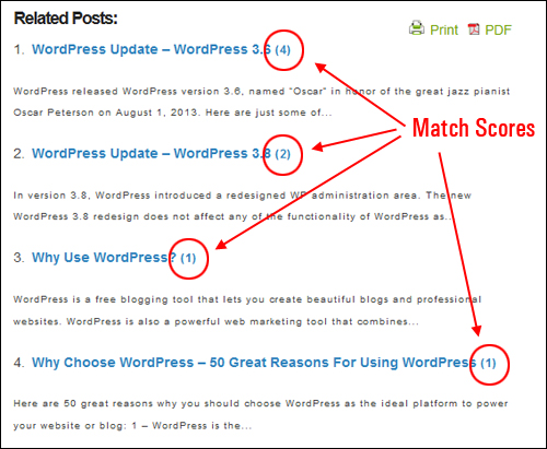 WordPress Plugin - Yet Another Related Posts Plugin
