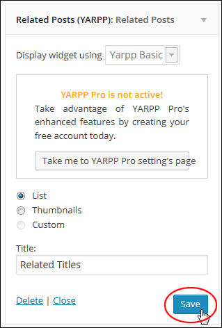 YARPP Widget