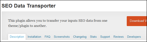 SEO Data Transporter Plugin For WordPress