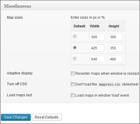 Add Maps To WordPress