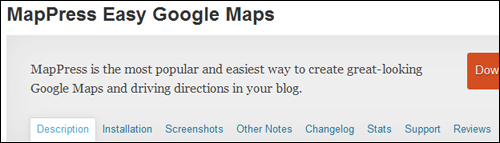 MapPress Easy Google Maps plugin