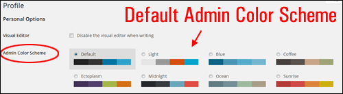 Customize WordPress Admin Color Scheme
