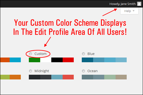 Customize Your WP Admin Color Scheme