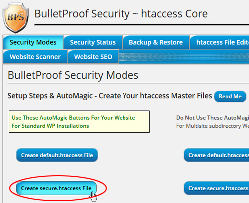 BulletProof Security Plugin