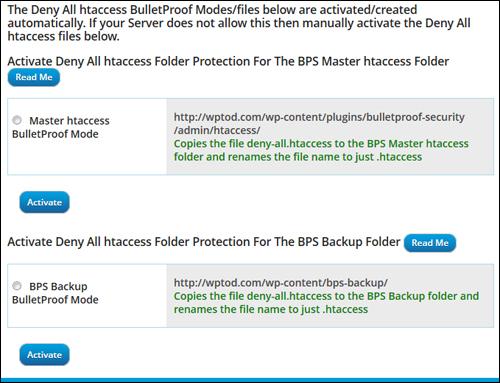 WordPress Security Plugin - BulletProof Security