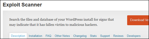 Exploit Scanner Plugin For WordPress