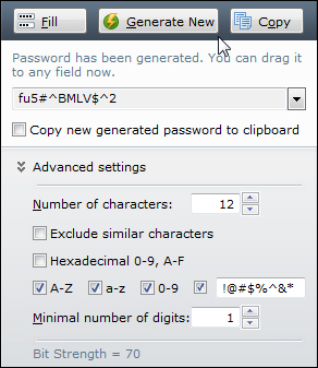RoboForm password generator