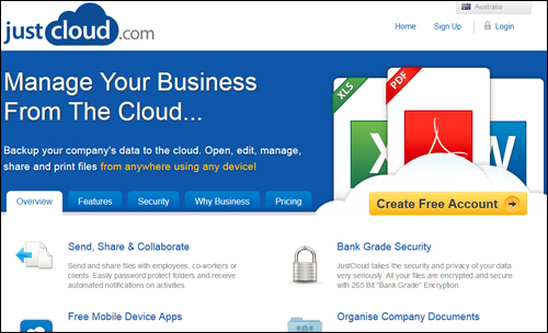 JustCloud.com - Online Backup