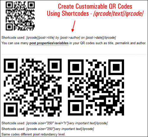 5 Sec QR Codes - WordPress Plugin