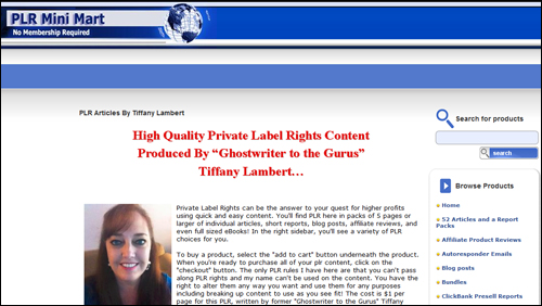 PLR Mini Mart - Private Label Rights Content