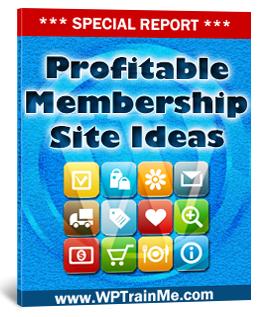 Free Special Report - Profitable Membership Ideas