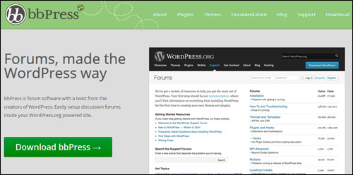 bbPress- WordPress Forums