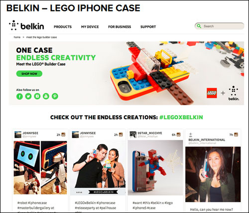 Belkin-Lego iPhone Case - UGC Campaign