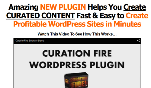 Curation Fire - WordPress Plugin