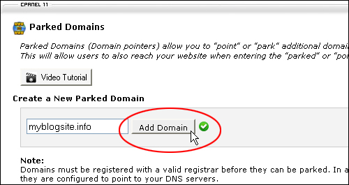 How To Create parked domains