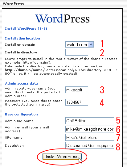 WordPress Set Up