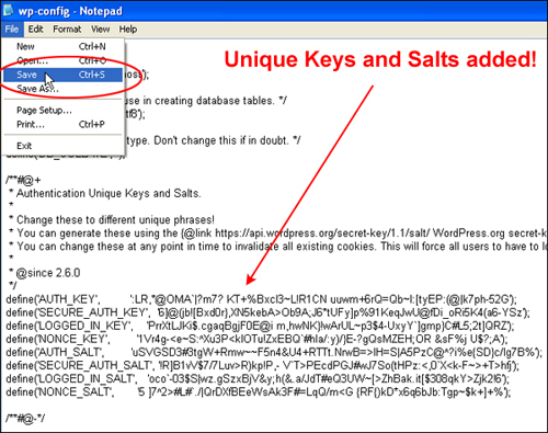 WordPress Security Keys