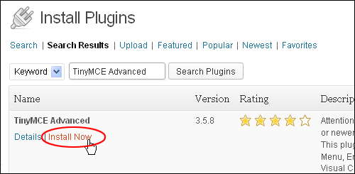 TinyMCE Advanced - WordPress Plugin