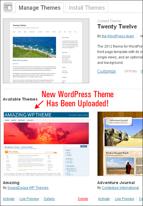How To Install WordPress Themes