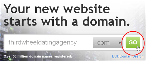 Search for domain name availability