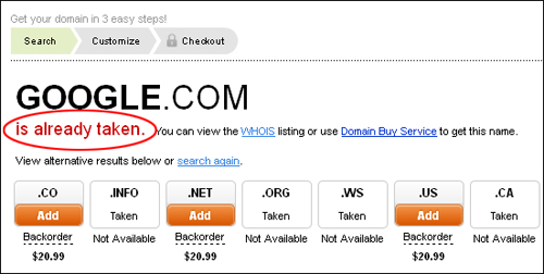 This domain name is not available