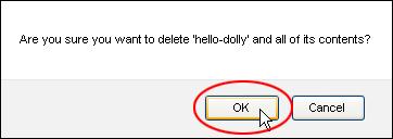 Deleting WordPress Plugins