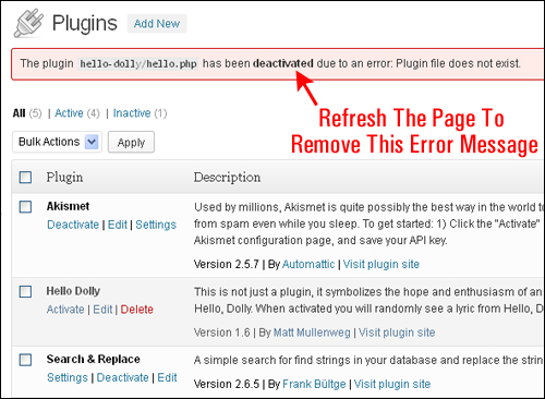 How To Delete WordPress Plugins