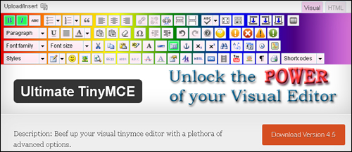 Ultimate TinyMCE - WordPress Plugin